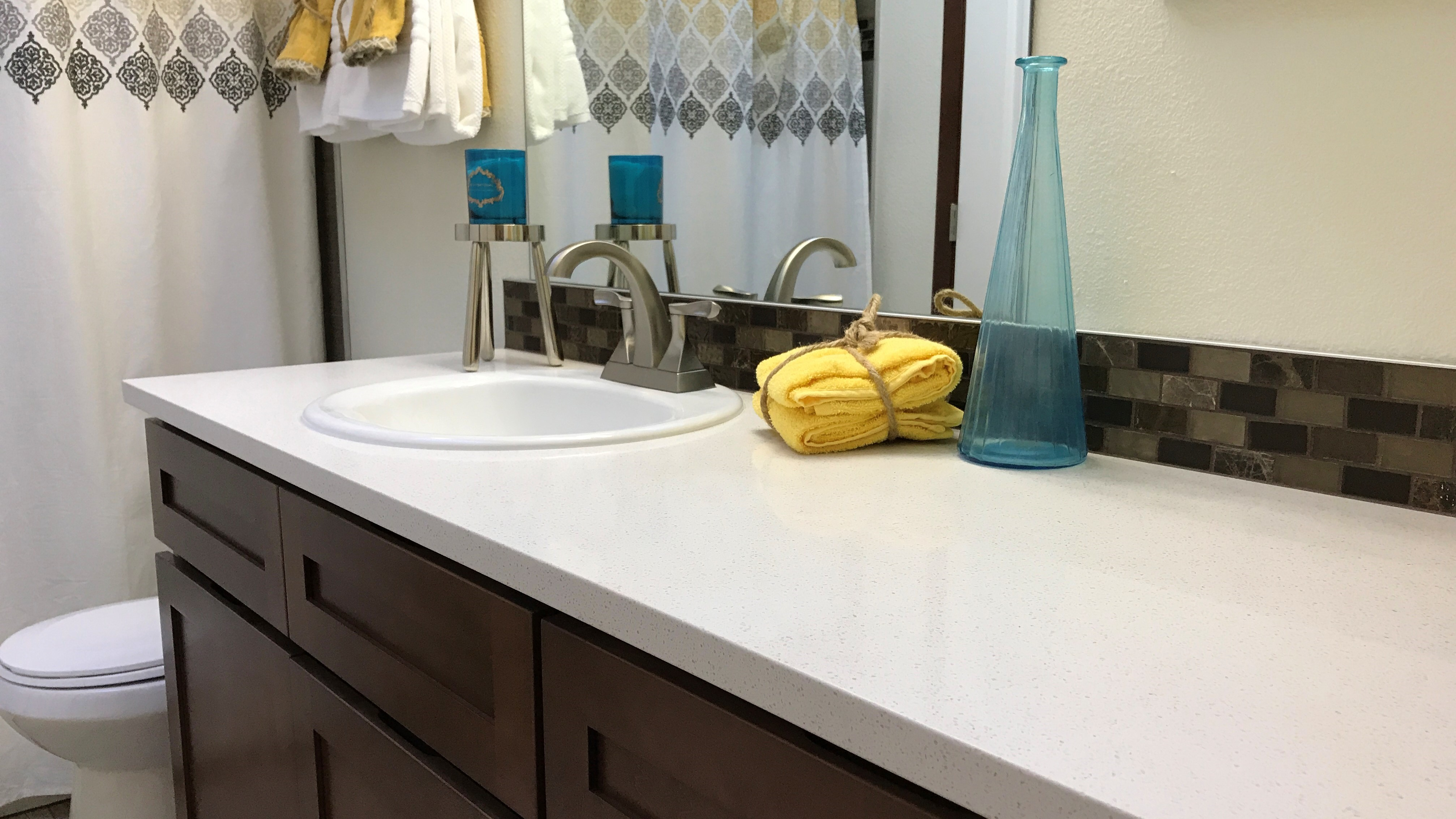 DIY Quartz Countertops – Bathroom