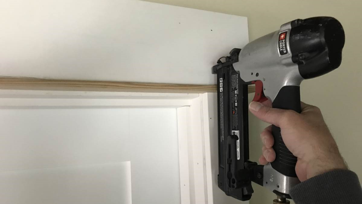 Easy DIY Craftsman Door Trim